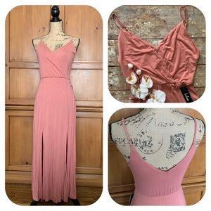 Lulus Time to Tango Blush Pink Midi Dress